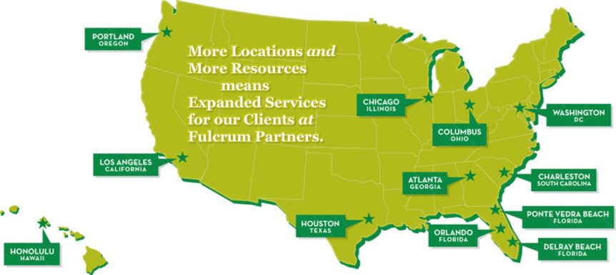 Fulcrum Partners Executive Benefits Solutions, US map of locations
