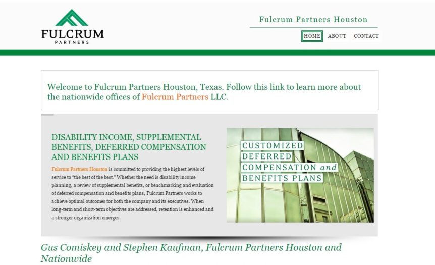 Fulcrum Partners Houston Microsite