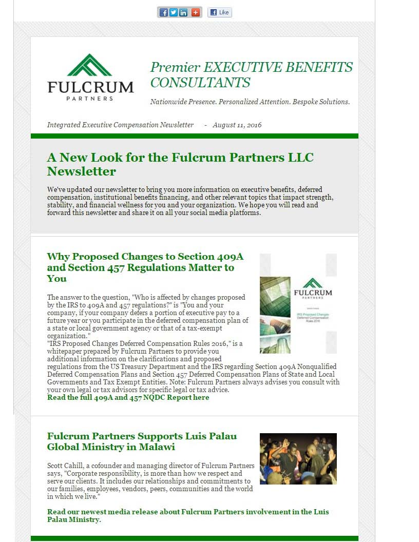 Fulcrum Partners Newsletter