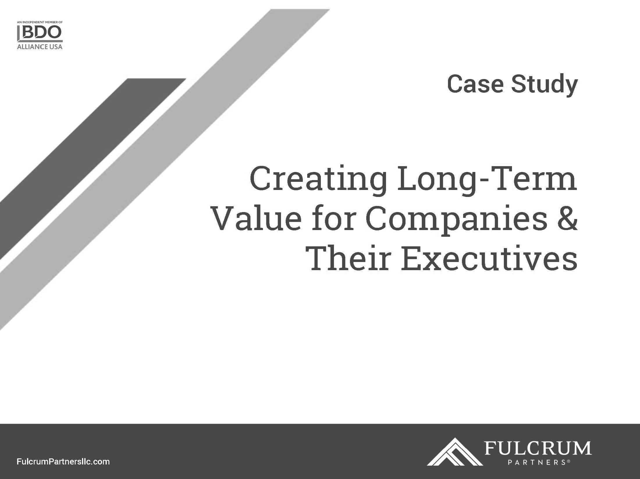Download Creating Long-Term Value for Companies & Their Executives case study PDF