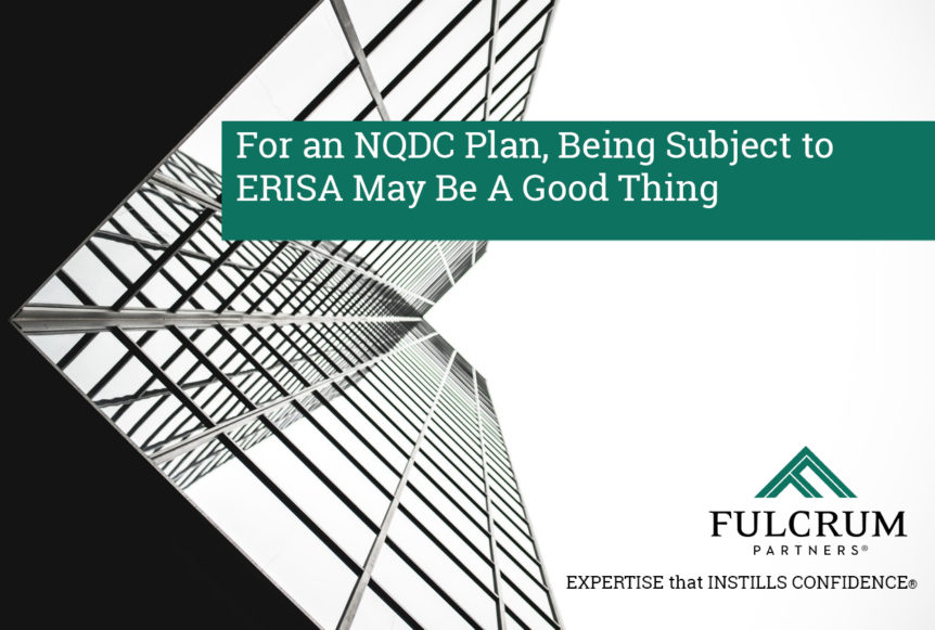 NQDC Plan Compliance with ERISA