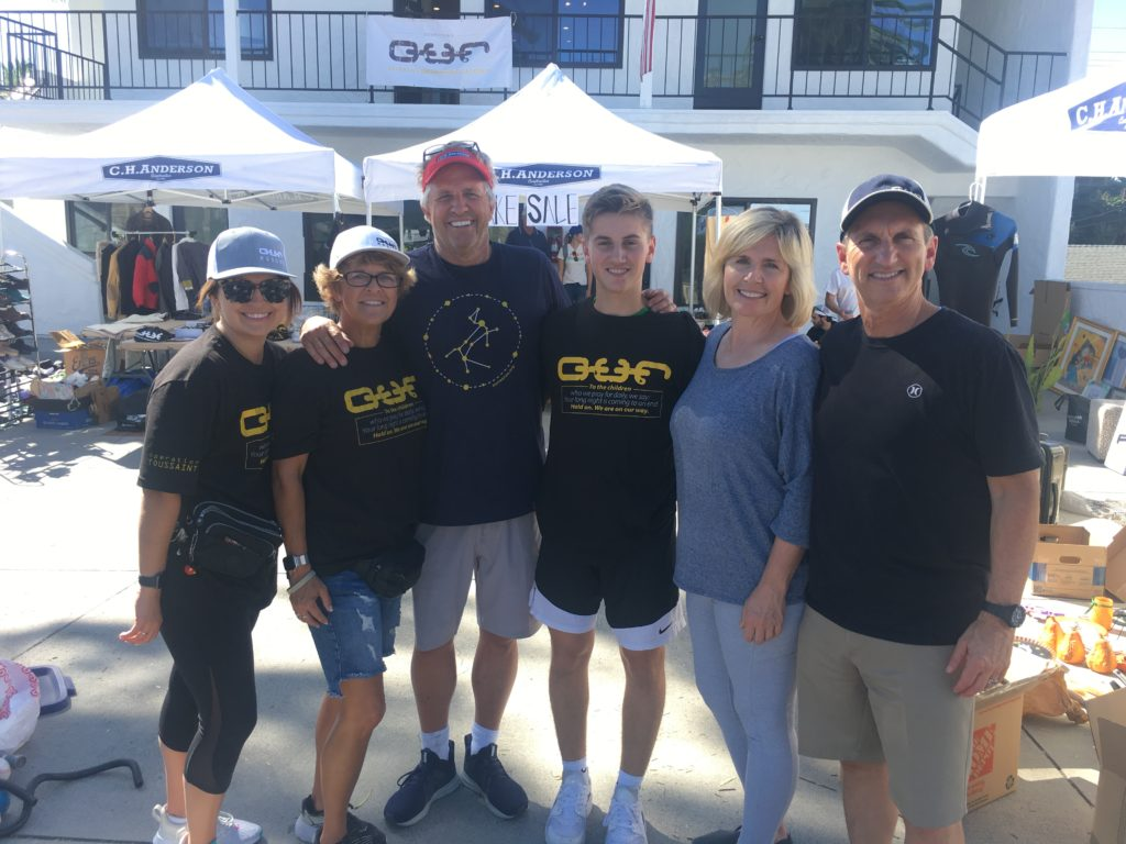 (L to R: ) Fulcrum Partners Los Angeles Managing Director Monte Harrick, his wife Melanie, son Kade, O.U.R. Board of Governor Members Craig and Stacy Anderson and their daughter, Becca at recent O.U.R. Fundraiser.
