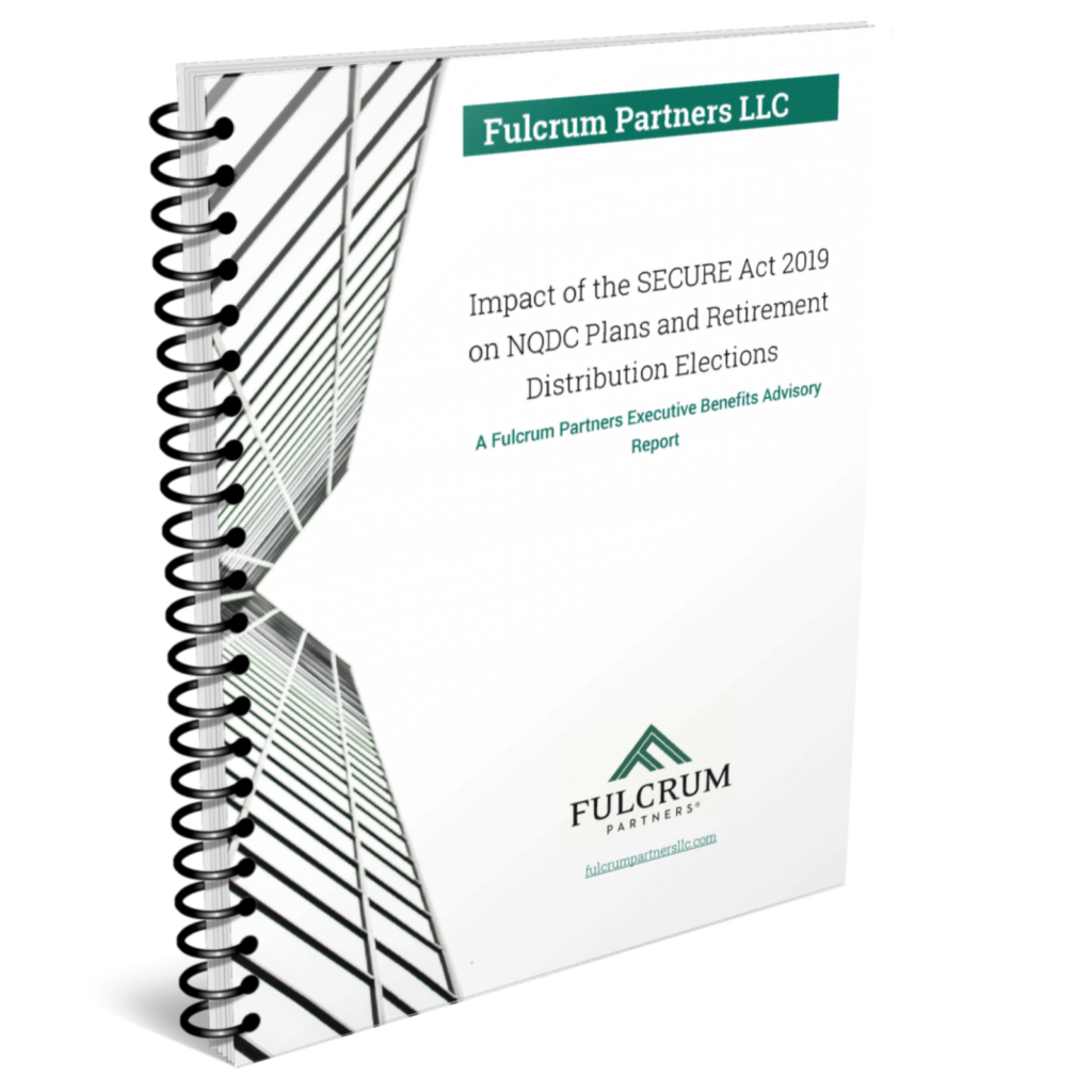 NQDC Plan Re-deferral for Tax Savings Report Fulcrum Partners