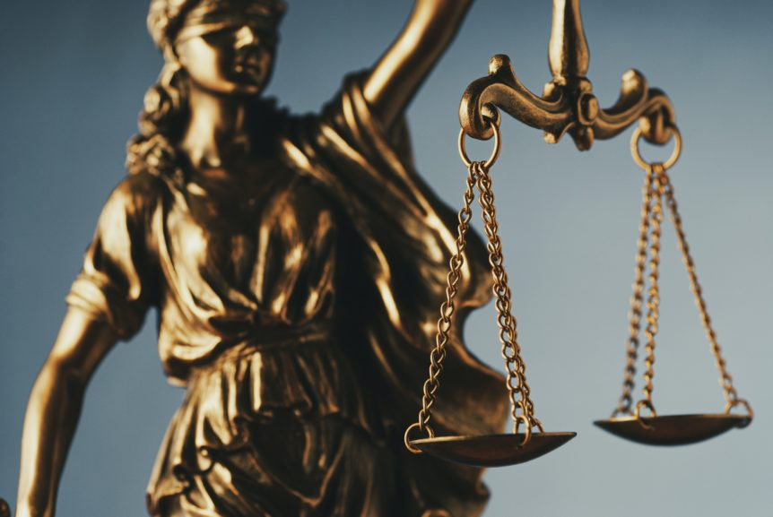 Figure of Justice holding the scales of justice