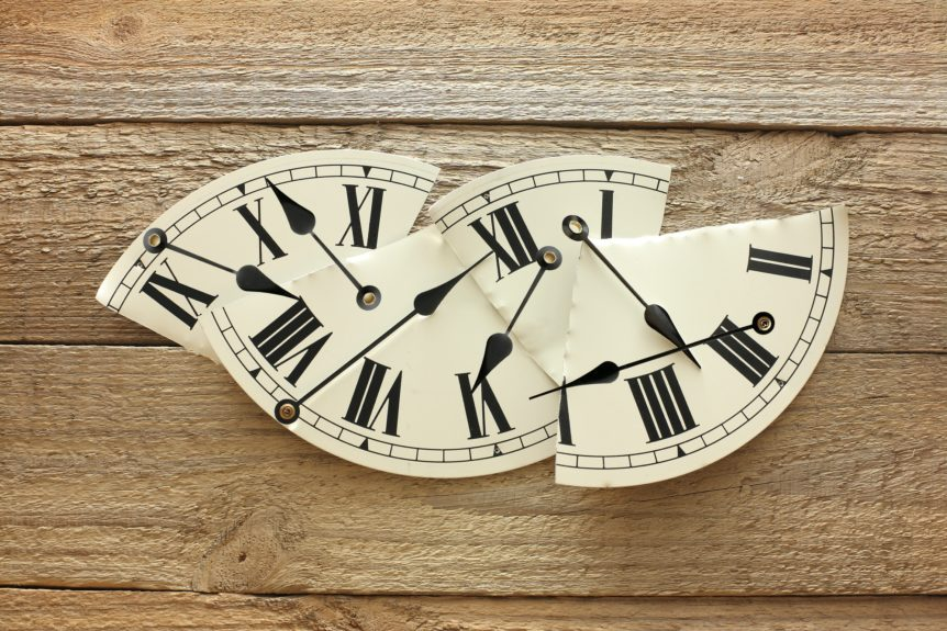 IRS Guidance on New Retirement Plan Features Under the SECURE Act shown by broken clock face