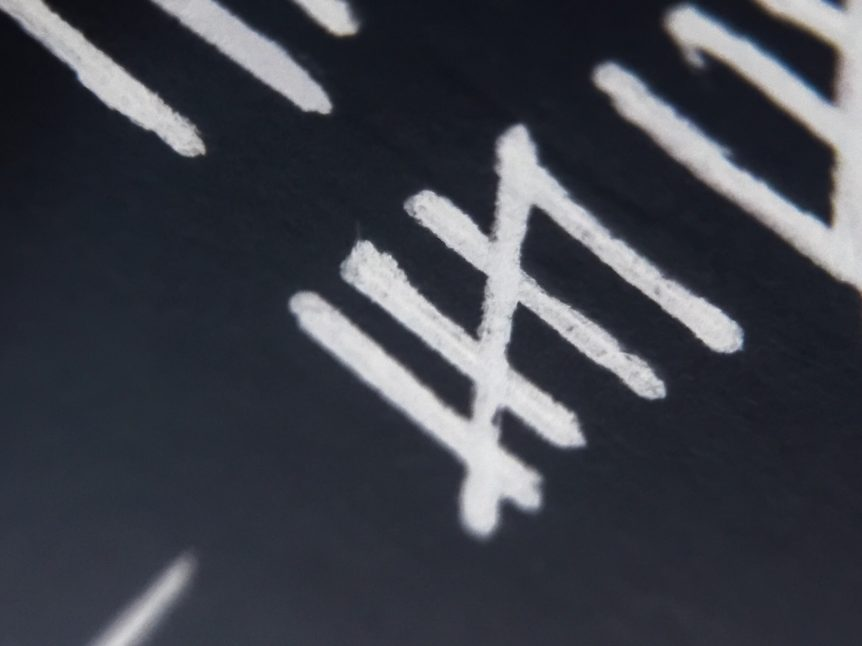 Tally Marks representing survey on Executive Compensation Adjustments Resulting from COVID-19's Impact