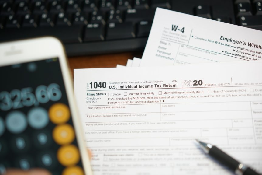 U.S. Individual Income tax return, 1040 , withholding certificate