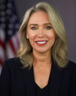 SEC Commissioner Allison Herren Lee portrait - related to remarks about diversity in the boardroom requirement